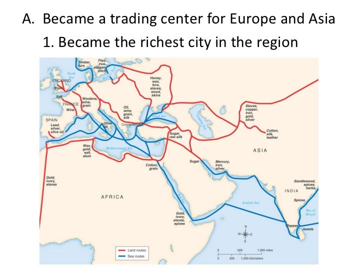 Byzantine empire trade system