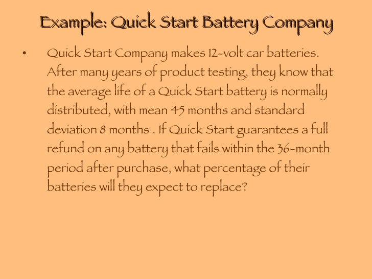 Quick Start Company Makes  Volt Car Batteries