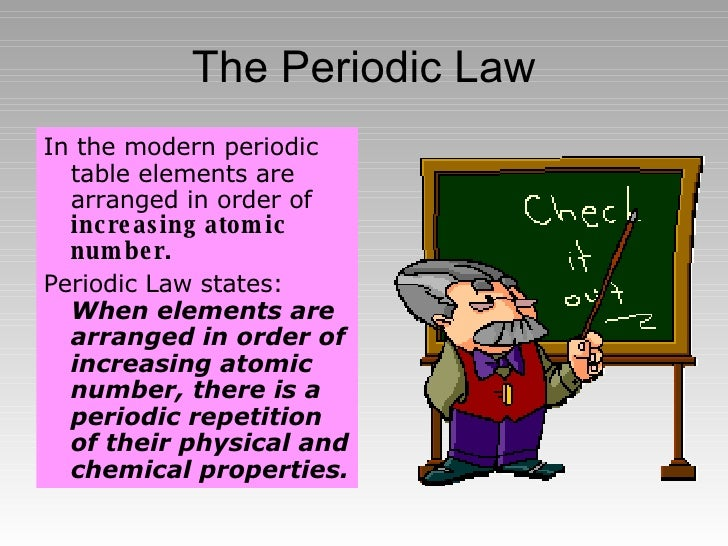 The periodic table 6 the periodic law urtaz