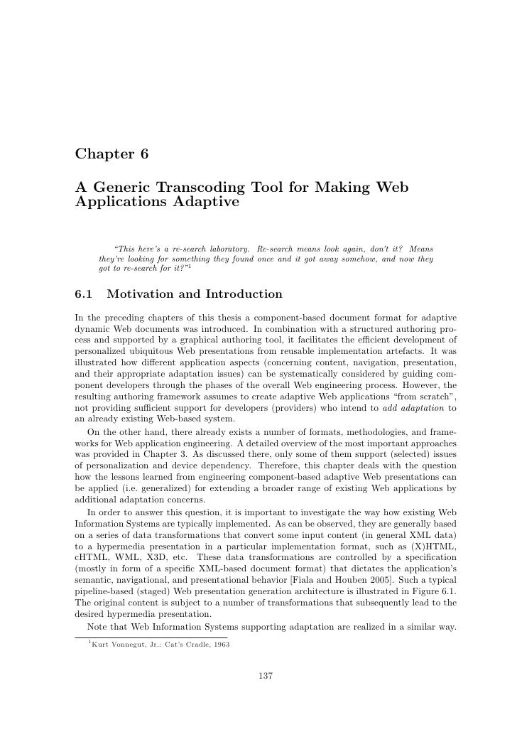 "Chapter 6  A Generic Transcoding Tool for Making Web Applications Adaptive               ""This here's a re-search laborato..."