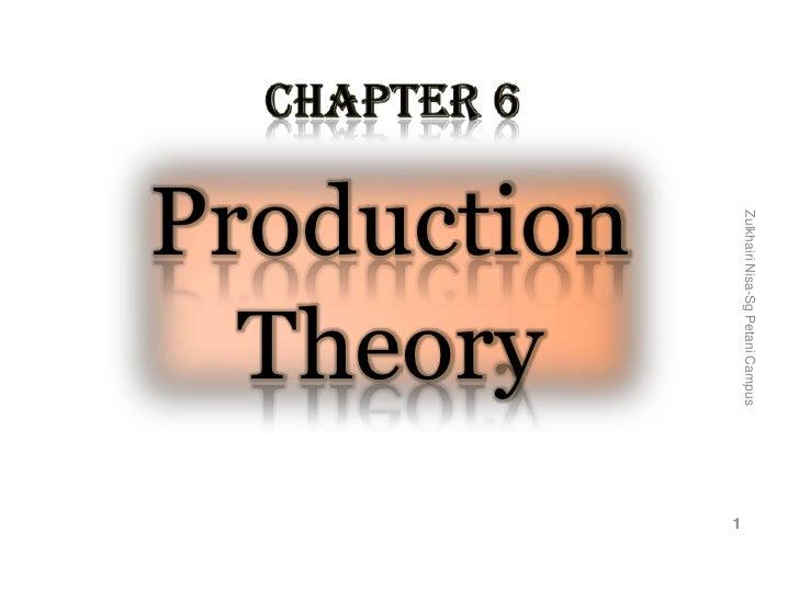 Zulkhairi Nisa-Sg Petani Campus                                    1 Production   Theory