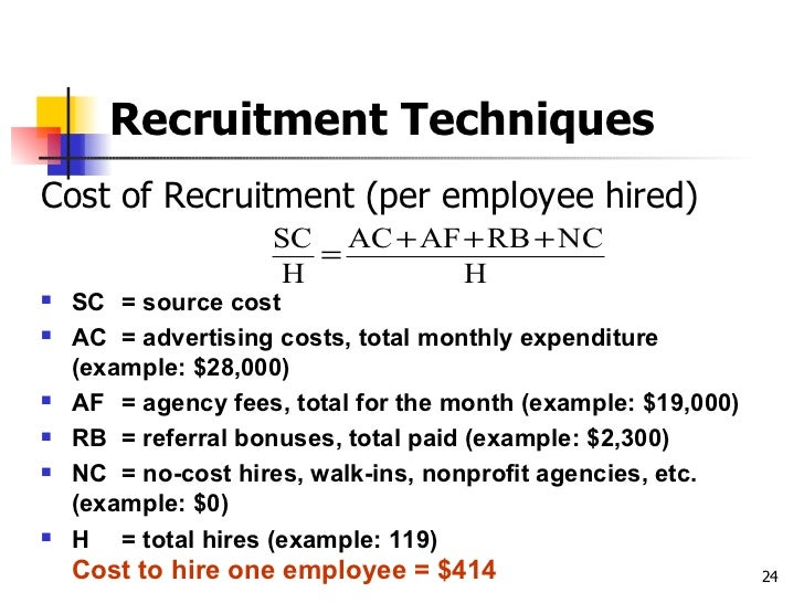 Chapter 6 recruitment and selection for Advertising agency fees