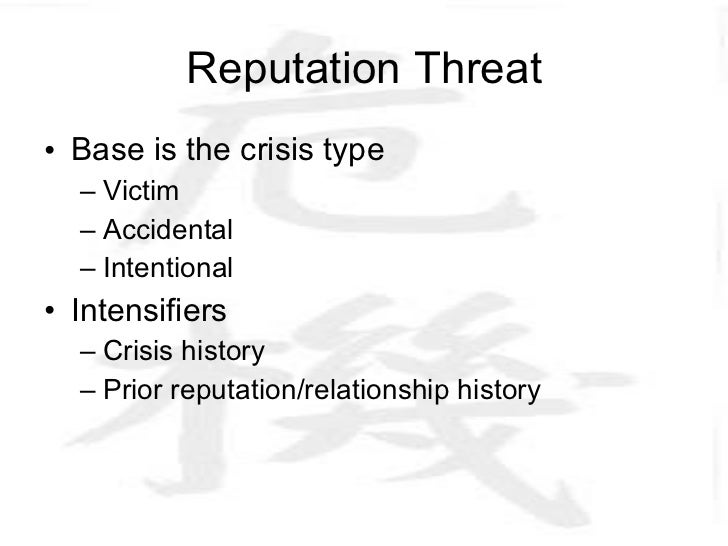 Situational Crisis Communication Theory