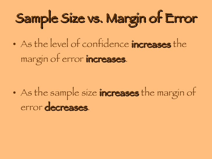 margin of error and confidence level relationship advice