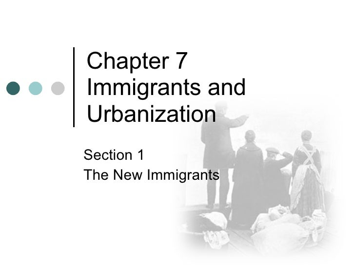 Chapter 7 Immigrants and Urbanization Section 1 The New Immigrants