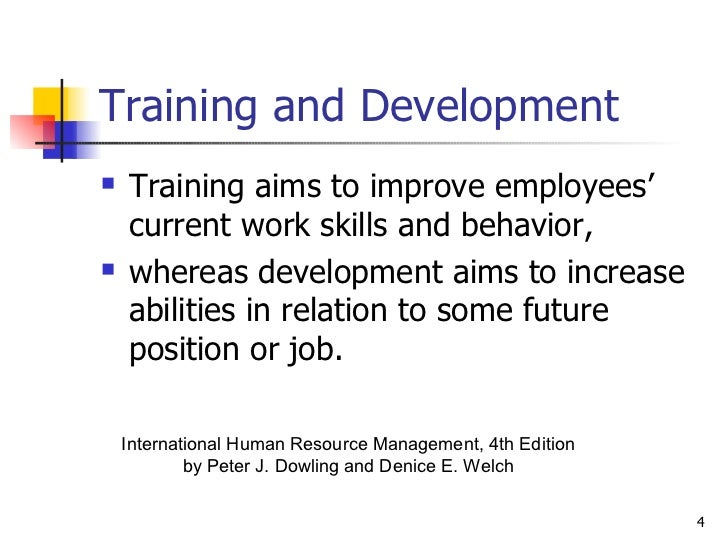 international training and development Strategic issues in training and development multinational corporations which can be generated with an effective international training and development.