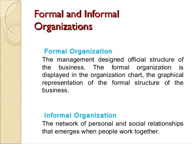 How Formal Organizations Evolved