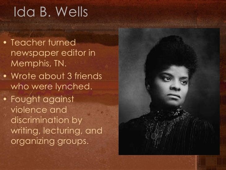 Ida b wells essay example