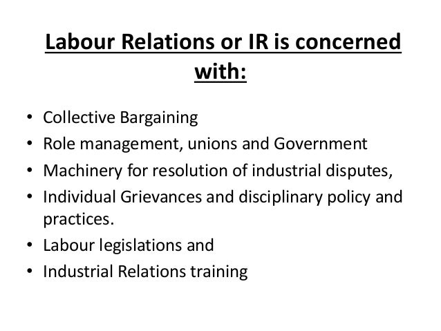 labour relations A trade union is a group or association of workers or employers whose principal objective is to regulate relations between workers and employers for all or any of the following purposes.