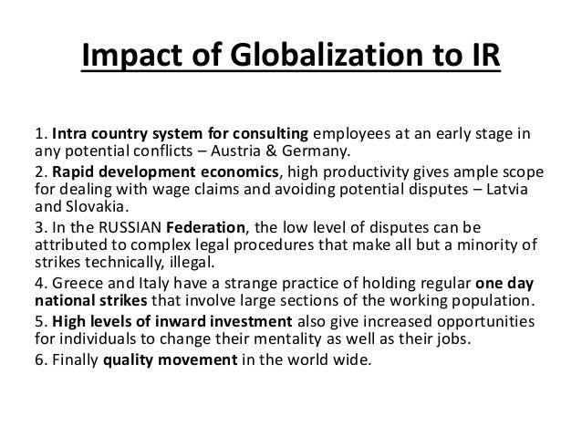 globalisation in relation to the international relations Beyond the great divide: globalization and the theory of international relations author(s): ian clark source: review of international studies, vol 24, no 4 (oct, 1998), pp 479-498.