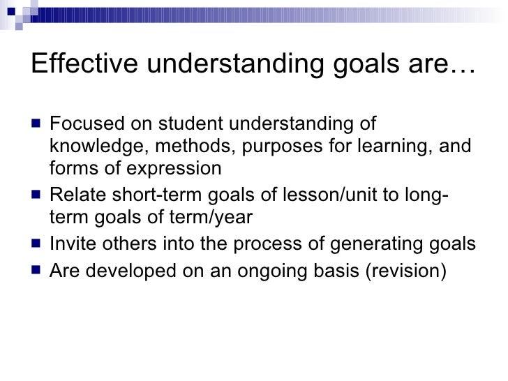Teaching For Understanding Understanding Goals