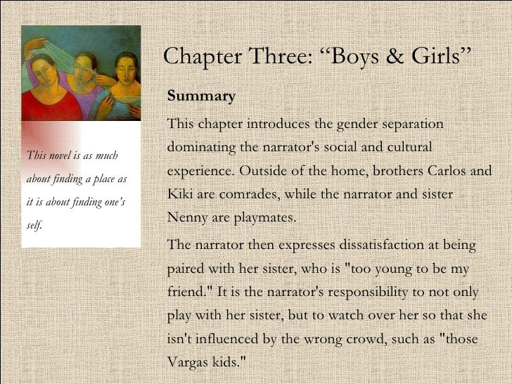 "Chapter Three: ""Boys & Girls"" Summary   This chapter introduces the gender separation dominating the narrator's social and..."