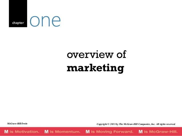 chapter  one overview of marketing  McGraw-Hill/Irwin  Copyright © 2013 by The McGraw-Hill Companies, Inc. All rights rese...