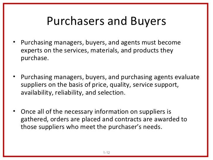 purchasing manager job description sample