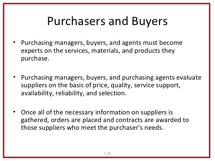 Purchasing and Supply Management – Purchasing Agent Job Description