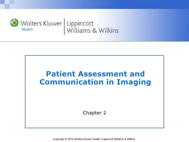 Patient Assessment and Communication in Imaging Chapter 2