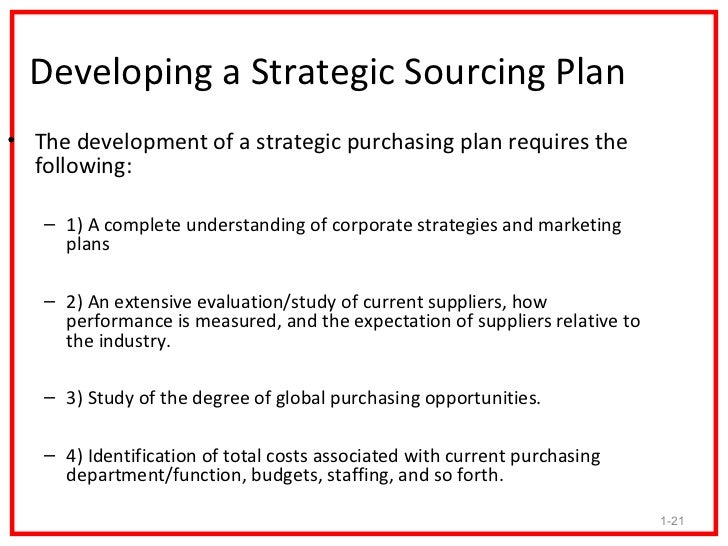 procurement business plan