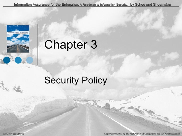 Chapter 3 Security Policy