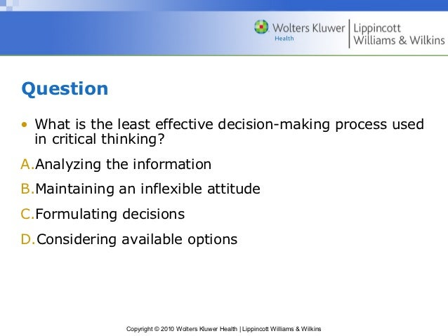 importance of critical thinking and decision making in nursing