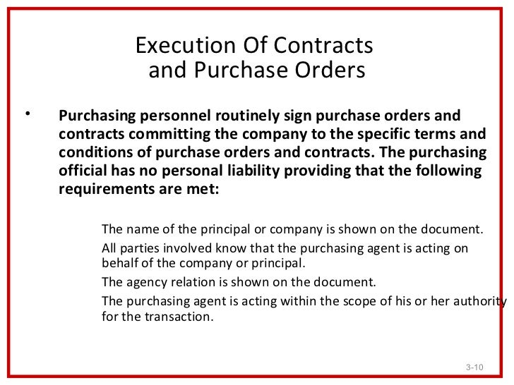 THE LEGAL ASPECT OF PURCHASING – Is a Purchase Order a Legal Document
