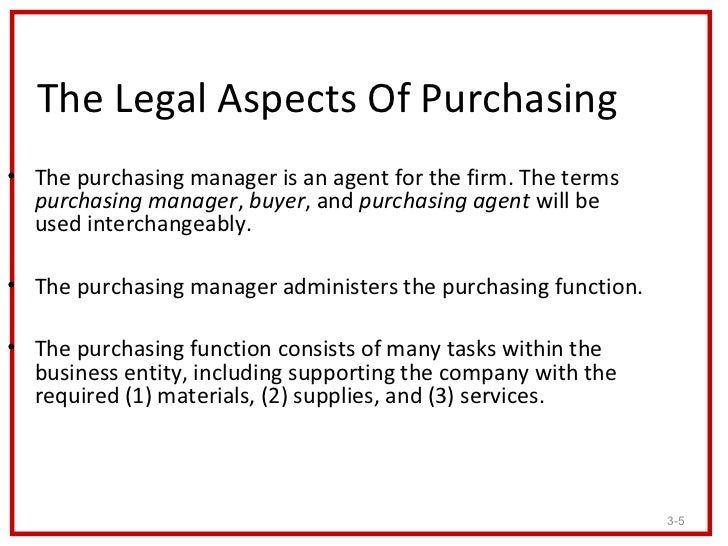 legal aspects of purchasing Knowledge: will know and understand capabilities: will be able to the impact of legal agreements on the relationships between different parties in a supply chain including.