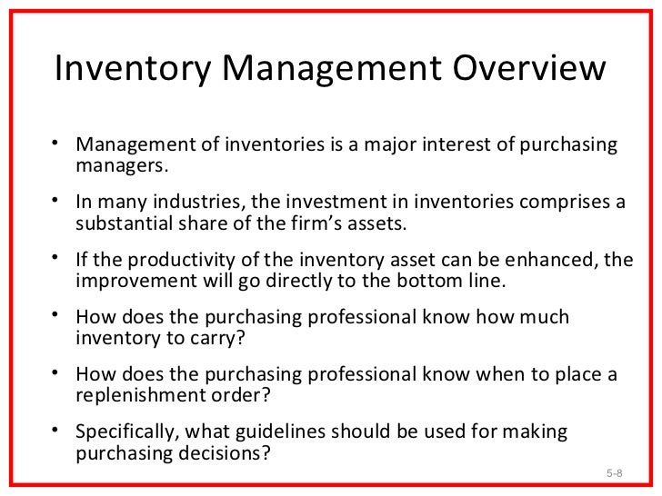 inventory management - Inventory Manager Job Description