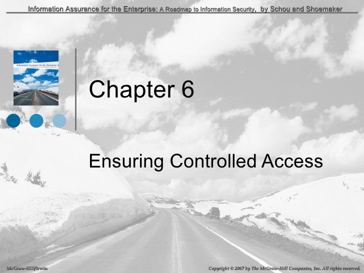 Chapter 6 Ensuring Controlled Access