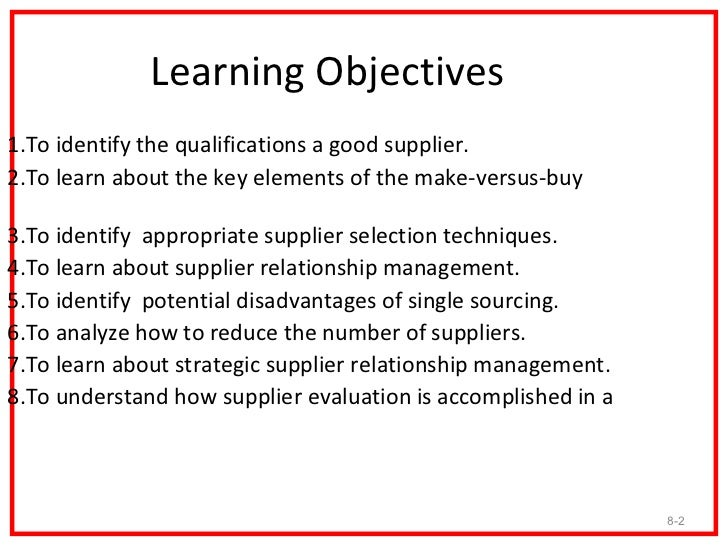 Supplier Selection And Evaluation 2