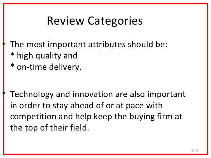 Strategic Suppliers• It is necessary for the buying firm to have strategic  suppliers who are open about their total costs...