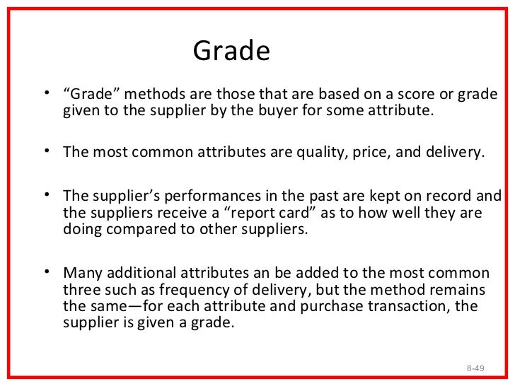 """Hurdle• The second group of methods used to reduce the  number of suppliers a firm uses is what I have termed  """"hurdle"""" me..."""