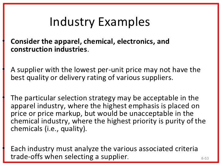 Apparel Industry• Organizational buying can be broken down into two  categories: retail buying and industrial buying.• The...