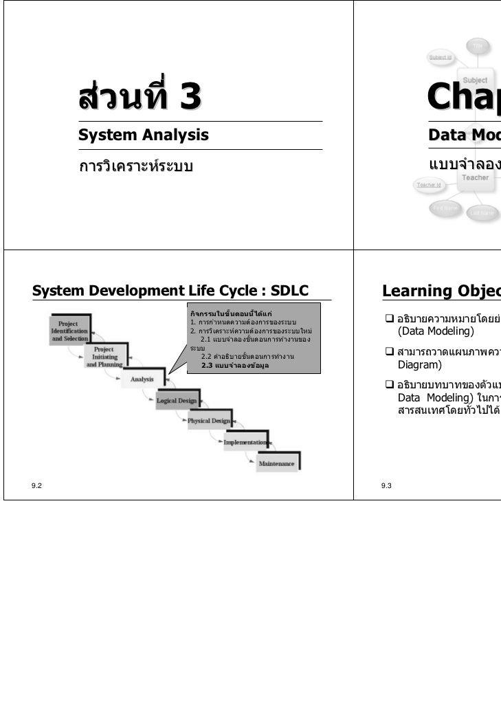 สวนที่ 3                                                         Chapter 9      System Analysis                          ...