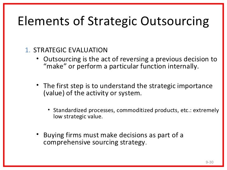 what is the right outsourcing strategy The best outsourcing strategy typically meets short- and long-term business needs, reduces overhead costs, maintains or improves service levels, and requires minimal management intervention outsourcing is the process of hiring third-party service firms to complete specific tasks or aspects of a business process.