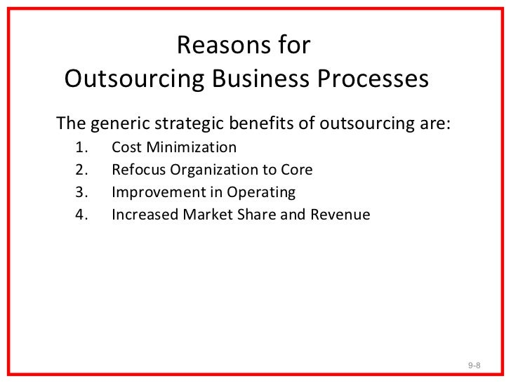 Outsourcing strategic management and company