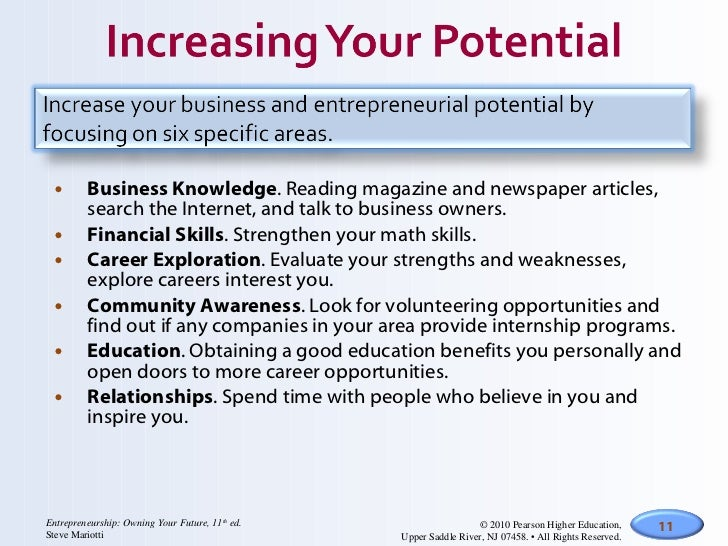 <ul><li>Business Knowledge . Reading magazine and newspaper articles, search the Internet, and talk to business owners. </...