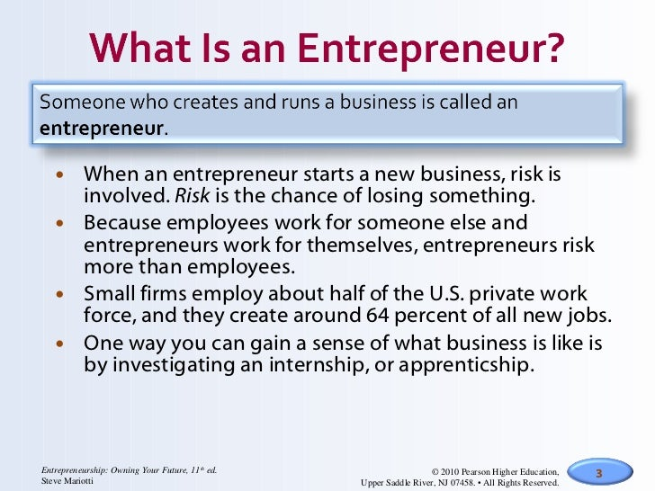 Introduction to entrepreneurship and business planning