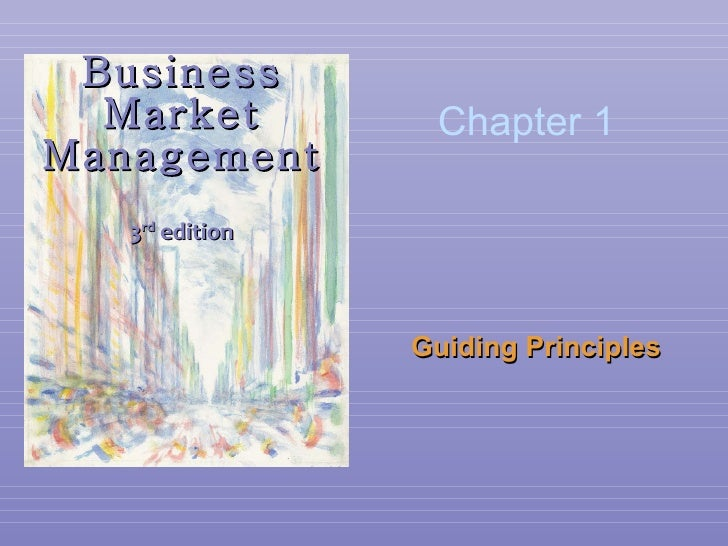 Business Market Management 3 rd  edition Guiding Principles  Chapter 1