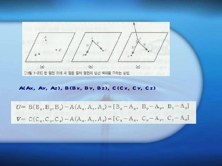 <ul><li>A(Ax, Ay, Az), B(Bx, By, Bz), C(Cx, Cy, Cz) </li></ul>
