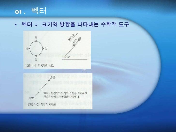 01. 벡터 <ul><li>벡터 - 크기와 방향을 나타내는 수학적 도구 </li></ul>