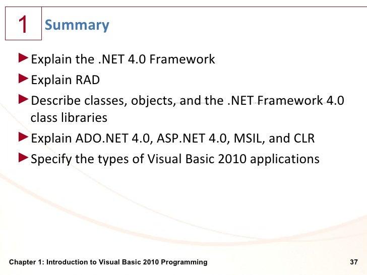 Visual Basic® Programmer's Guide to the .NET Framework ...