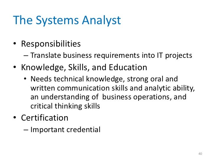 ... A Look At The Responsibilities Of A Computer Systems Analyst And Job  Duties 22 10