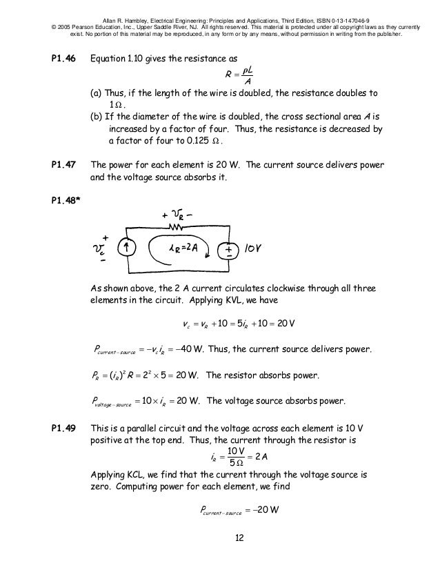 Fundamentals Of Electrical Engineering Exam
