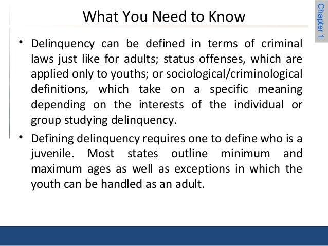 sociology juvenile delinquency