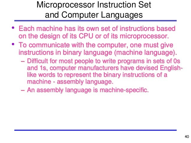 Chapter 1-Microprocessors, Microcomputers, and Assembly Language