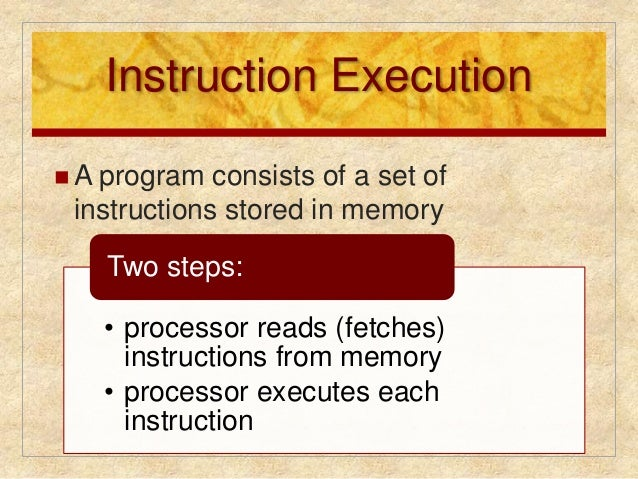 instruction processing consists of two steps