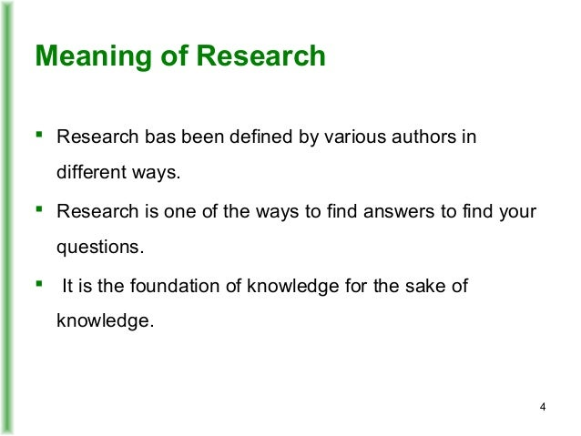 definition of research by different authors pdf