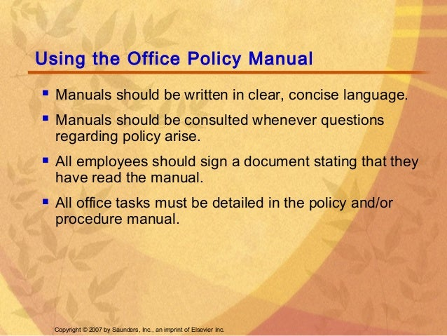 doctor office policy and procedure manual