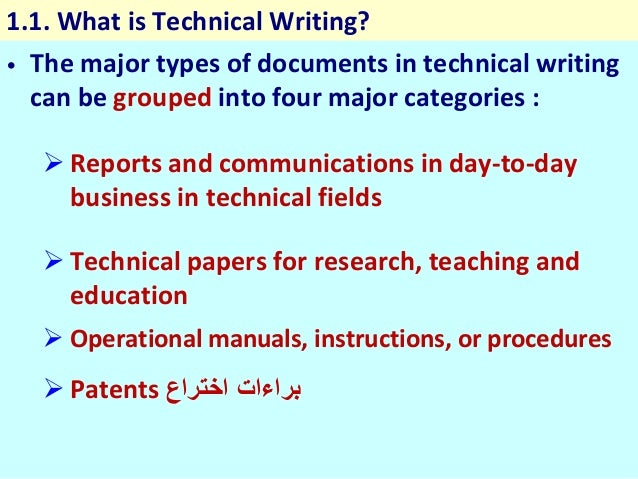 Presentation Of Chapter 01 Technical Writing