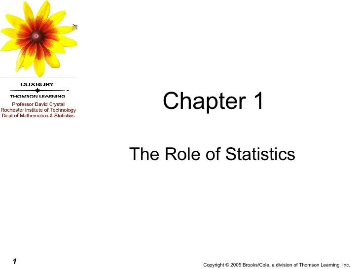 Chapter 1 The Role of Statistics