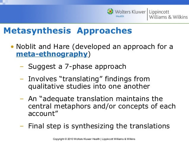 metasynthesis research